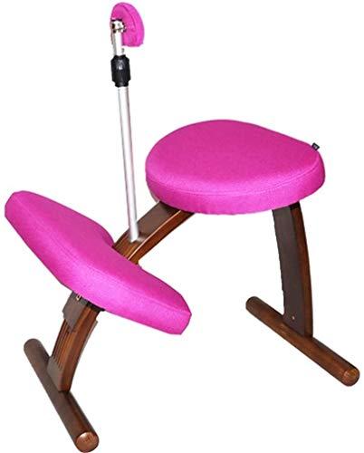 HUXIUPING Knie Stuhl Kniestuhl Multifunktionales Schreibtisch und Stuhl Ergonomischer Orthopädische Stuhl Richtige Sitzhaltung zu entlasten Müdigkeit Home Office (Color : Purple)