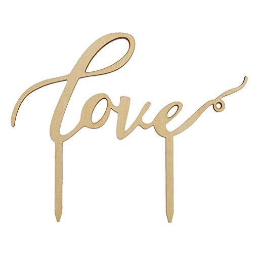 ROSENICE Topper Torte Love Amore Cake Topper Matrimonio Decorazione