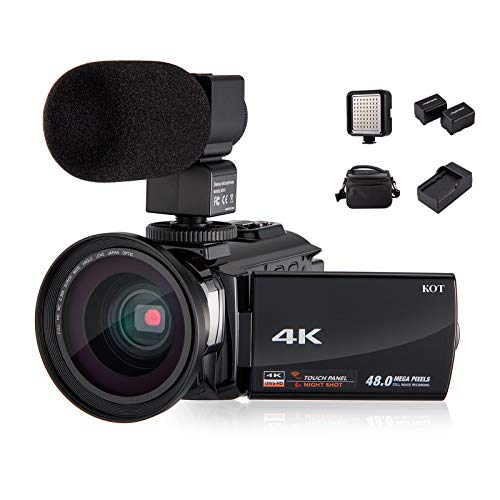 4K Camcorder Video Camera KOT HD WiFi 3.0 Inch IPS...