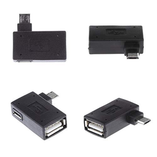 balikha 4 Stick Adaptador Micro USB a USB OTG, Micro USB B Macho a USB a Hembra,