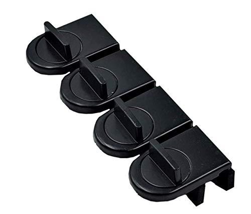 ZERONOWA 窓 ロック 窓用 補助錠 サッシ ストッパー 二重施錠 (ブラック4個)