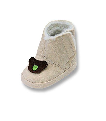 Świąteczne buty niemowlęce rozm. 16-19, dziewczynka dziecko chrzest i wesele prezenty, - Tw05 beżowy - 16 EU