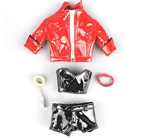 Kleding Model 1/6 Schaal Vrouwelijke Rood Korte Leren Jas Broek Vrouwelijke Figuur Body Accessoires Van toepassing op voor 12'' Actie Figuur Lichaam