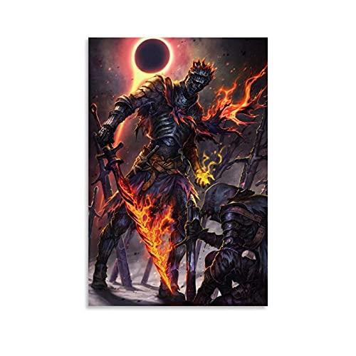 Withtap Póster de juego Dark Souls III Soul of Cinder 2 - Lienzo decorativo para pared (60 x 90 cm)
