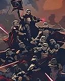 Pintura por Números para Adultos y niños Pintar Diy al óleo de Bricolajecon Marco Personalizado Kit Pinceles 40x50 CM Sable de luz de soldado de asalto de Star Wars Principiantes Lienzo Decoraciones
