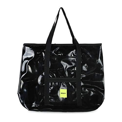DKNY Kids wasserabweisende Tasche in Lackoptik schwarz unisex Maße: 43 cm x 33 cm x 11 cm