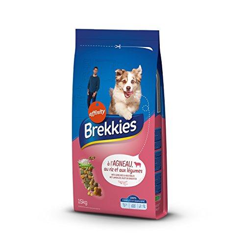 Brekkies Excel Croquettes pour Chien Adulte Multicroc Agneau 15 kg