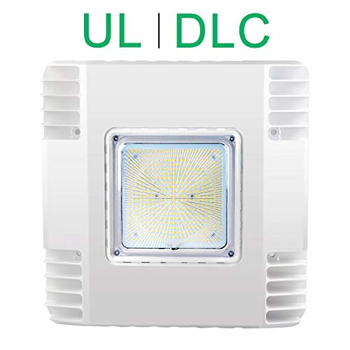 LED Canopy Light 150W Gas Station Carport Ceiling Light 5700K, Outdoor Rated (600W HID/HPS Equivalent), 90-277V IP65 DLC & UL Listed