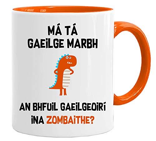 Divertida taza de idioma irlandés, ideal para regalo de Navidad, aniversario, profesor con caja de regalo
