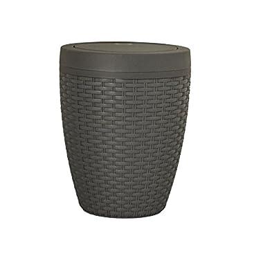 Superio 6.5 Qt Round Thrash Can (Grey)