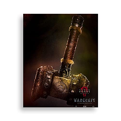 Pintura de diamante DIY para adultos World of Warcraft 30 * 40 cm Kit de arte de diamante de cristal y manualidades Kit de pintura de diamante decoración de la pared del hogar Doomsday Hammer