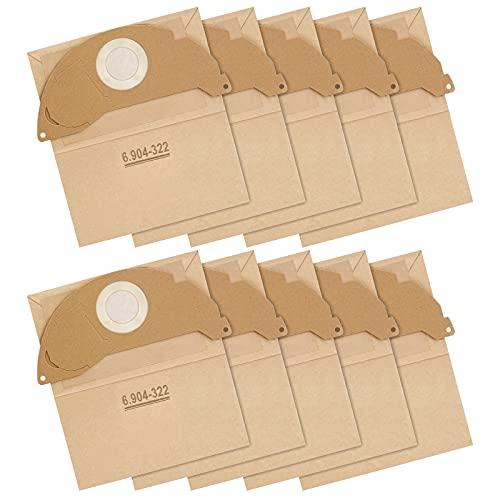 Sunnila 10 bolsas de filtro de papel WD2 de repuesto para aspiradora Kärcher WD2 MV2 A 2003/2024/2054, reemplaza 6.904-322.0 WD2