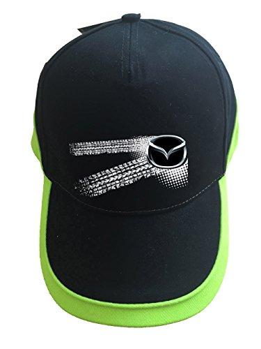 mmshop18 Mazda - Auto Logo Unisex Baseball Cap Mütze -c56 (sw-grün)