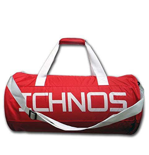 Ichnos Ripstop Borsa da Palestra Sportiva con Tracolla Regolabile Rosso/Bianco