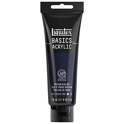 Liquitex BASICS Acrylic Paint, 4-oz tube, Prussian Blue