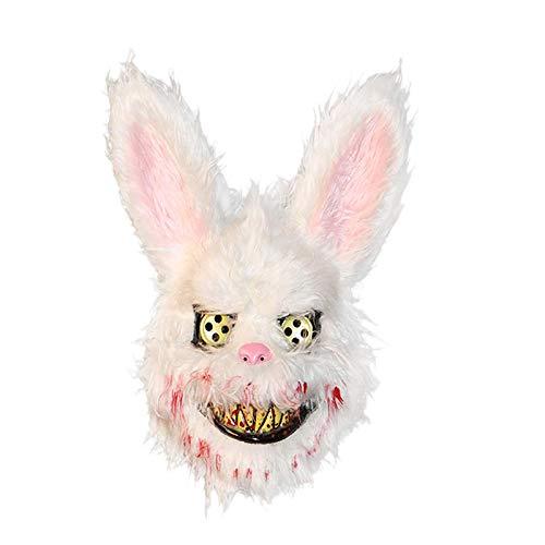 TOOGOO MáScara de Halloween MáScara de Conejo Asesino