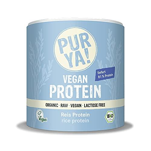 PURYA! BIO REIS Protein-Pulver, für Smoothies, Shakes, Salate oder Müslis, veganes Protein für Muskelaufbau und Fitness, vegan und laktosefrei, 250g