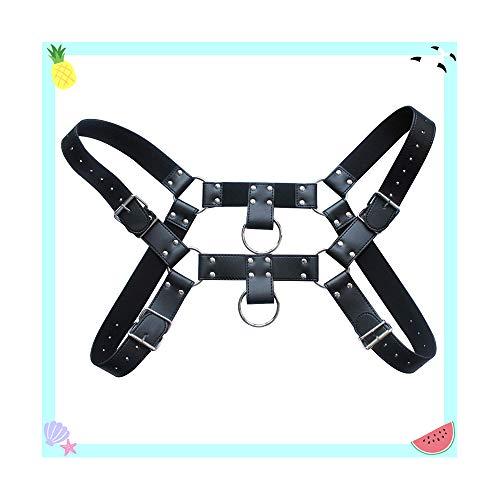 Cintura in pelle regolabile con imbracatura e cinturini per uomo cinture per uomo grande e alto a cricchetto reversibile nero
