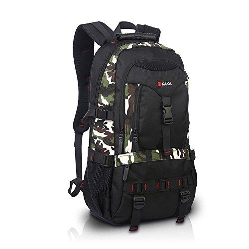 FANDARE Recorrido Alpinista Mochila Morral al Aire Libre Viaje Escuela Bolso Backpack para Ordenador Portátil 17\'\' Pulgadas Mujeres Hombres Oxford Poliéster Camo