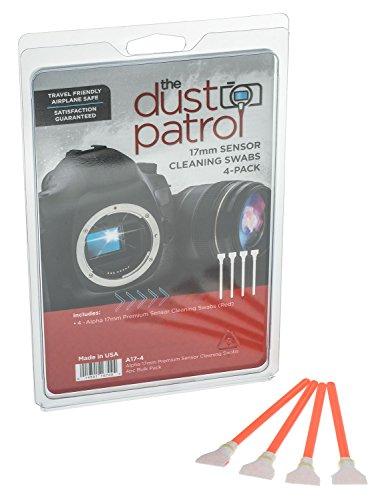 The Dust Patrol Alpha 17mm Premium Sensorreinigungs-Swabs (4er Pack) (Rot) für Kameras mit APS-C Sensoren - die gängigste Größe
