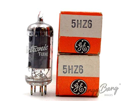 Fantastic Deal! 2 Vintage General Electric 5HZ6 Sharp Cutoff Pentode Sound Detector TV Valve- BangyB...