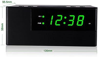 Home, Furniture & DIY Acctim 15737 Wireless/USB Charger Alarm Clock Clocks