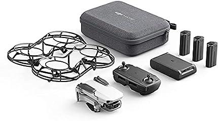 DJI Mavic Mini Combo - Dron Ultraligero y Portátil, Sin Care Refresh, Duración Batería 30 Minutos, Sin Tarjeta, Distancia Transmisión 2 Km, Gimbal 3 Ejes, 12 MP, Video HD 2.7K, 3 Baterías