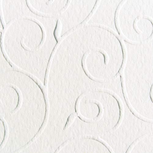 MarpaJansen Prägekarton Arabesken -3D Effekt - (DIN A4, 10 Bogen, 220 g/m²) - weiß