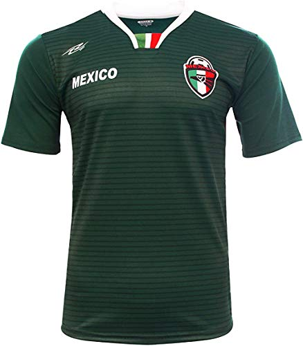 Arza Sports Men Mexico Fan Jersey 2018 Color Green (Large)