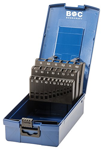 Bohrcraft 00811520025 Industrie-Kunststoffbox dunkelblau KR 13 leer 25-teilig für HSS-Spiralbohrer DIN 338