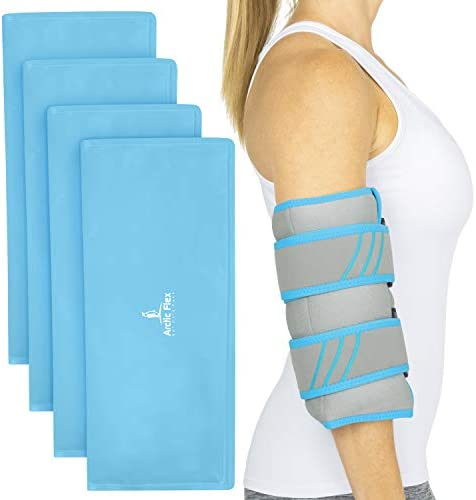 Vive Elbow Ice Pack Reusable Injury Gel Wrap Pliable Compression for Cold or Hot Therapy Refreezable product image
