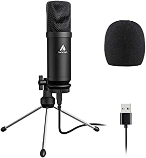 USB Microphone 192KHZ/24BIT MAONO AU-A04TR Cardioid Condenser Podcast PC Studio Mic with Professional Sound Chipset Plug & Play for Computer, livestreaming, YouTube, Gaming Recording, Voice Over