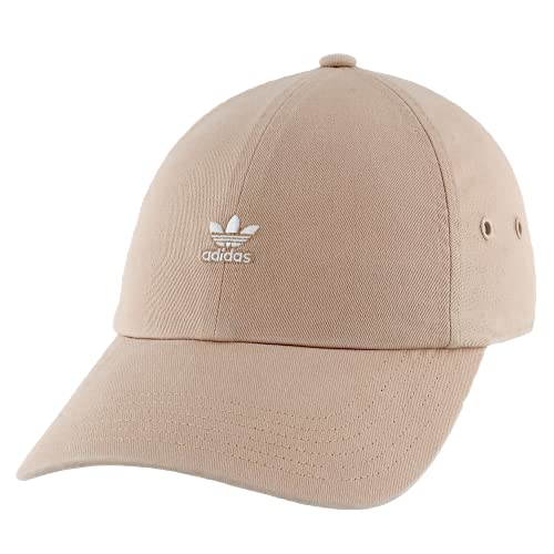 adidas Originals Women's Mini Logo Relaxed Cap, Ash Pearl Pink, ONE SIZE
