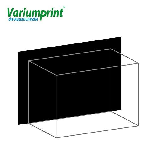 Variumprint die Aquariumfolie Aquarium Rückwandfolie Selbstklebend Rückwand Black VEO-0101 (B 60 x H 30 cm)