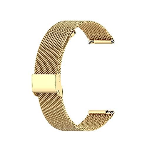 Fawyhr Banda de Reloj de Metal de Malla de Acero Inoxidable, Pulsera con Correa de Reloj de Hebilla metálica (Color : Tyrant Gold, Size : 20mm)