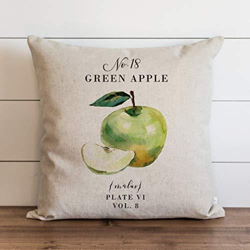 Federa per cuscino verde 18 x 18 cm, motivo botanico   floreale   erbe   decorazione per la casa primaverile   cuscino estivo   giardino