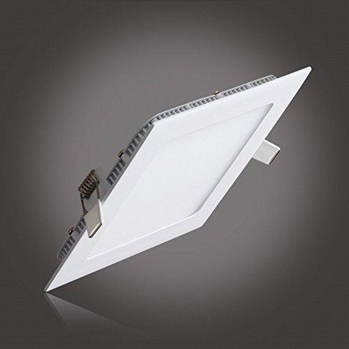 S G Ceiling Light Panels Ultrathin Suqare Led Recessed Lighting Kit 12w 850lm 3000k Warm White Hole Size 155mm Ac85 265v Factory Price Christmas Led Lights Amazon Com