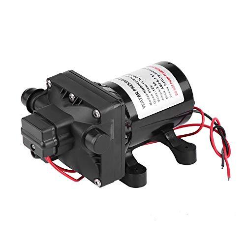Pusokei 12V DC selbstansaugende Wasserpumpenmembran 30 psi Hochdruckwasserpumpe Intelligentes Ventil mit einstellbarem Schalter mit Rückschlagventil 7,5 Ampere RV-Pumpe