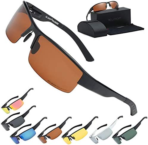 Xloop Polarized Aircraft Aluminum Driving Wrap Around Sunglasses For Men product image