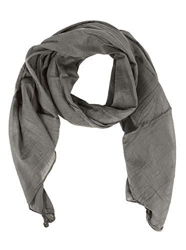 Zwillingsherz Seiden-Tuch für Damen Mädchen Uni Elegantes Accessoire/Baumwolle/Seiden-Schal/Halstuch/Schulter-Tuch oder Umschlagstuch einsetzbar - hgr