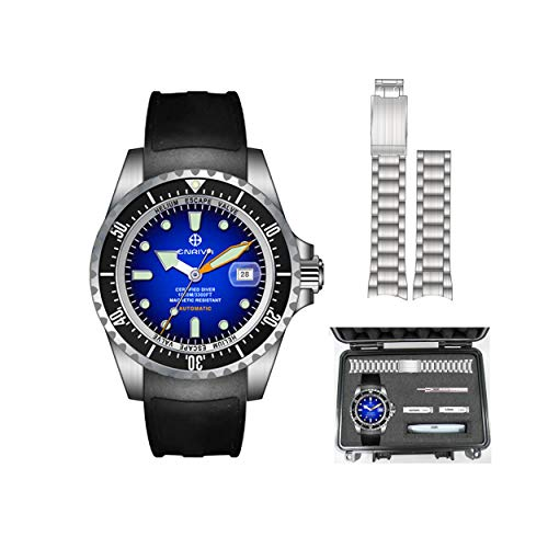 ENRIVA Men's 1000 Meters Automatic Pro Dive Watch Diving Watches Self-Wind Professional Diver...
