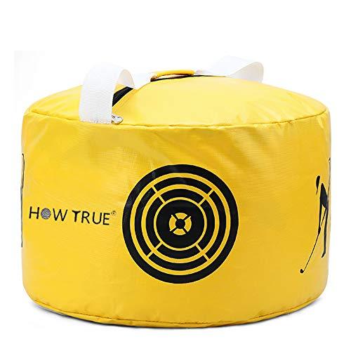 HOW TRUE Golf Smash Bag Golf Impact Swing Trainer, Yellow
