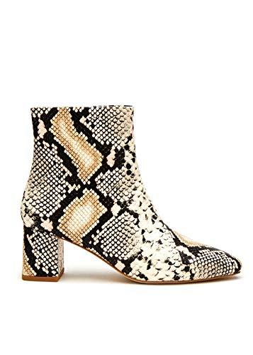 Matisse Damen Stiefelette Kakao Schlangenleder Animal Print Stiefelette Westernstiefel, Beige (beige), 39.5 EU
