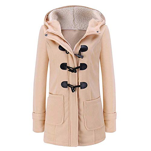 PXFX Fashion Hooded Vrouwen Jas Pure Gesp Rits Front Plus Size Jas Herfst Dunne Duffle Jas Vrouwen Casual Slim Lange Jas