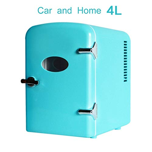 waart Draagbare thermo-elektrische koelbox, 4 liter, geruisloos, 2 V en 220 V, voor auto en stopcontact, ideaal voor outdoor-activiteiten in de tuin, barbecue, picknick camping
