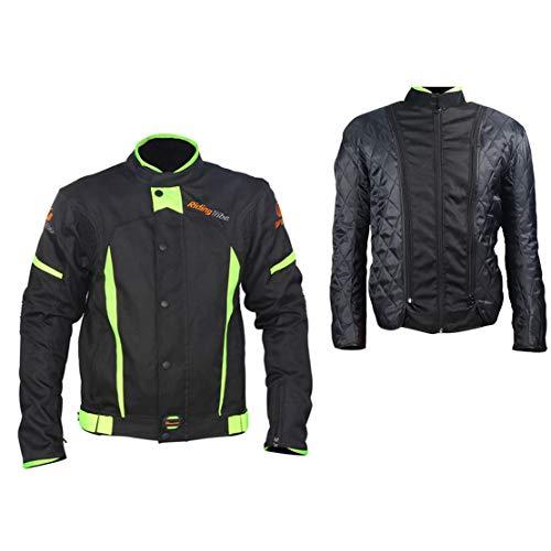 LKN - Chaqueta protectora para el cuerpo de moto con capa de algodón térmico