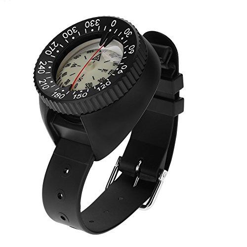 Dwawoo Wrist Compass, Mini Survival Watchband Underwater Wrist Mount Compass zum Tauchen Schnorchel Kajak Kanu Wandern Reisen Camping