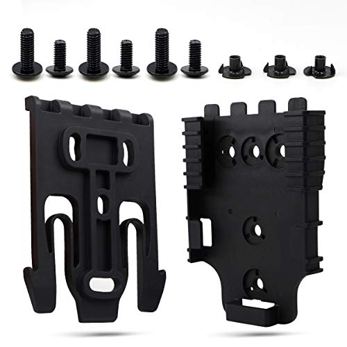 Mizzuco Quick Locking System Kit with Duty Receiver Plate and Duty Holster Locking Fork 6 Packs Installing Screw
