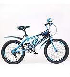 SJSF Y Vélo Enfants Garçons Et Filles 8-9-10-14 Ans Freins à Disque De 22 Pouces Vélo De Montagne pour Enfants,Blue