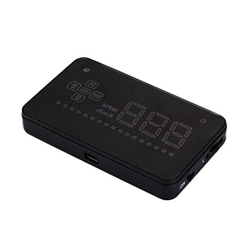 Affichage tête Haute Voiture Affichage HUD Premium 3.5 Pouces Noir Avertissement GPS